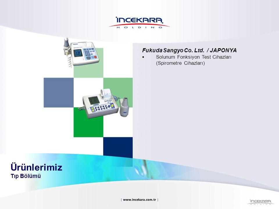 Fukuda Sangyo Co. Ltd. / JAPONYA  Solunum Fonksiyon Test Cihazları (Spirometre Cihazları) Ürünlerimiz Tıp Bölümü