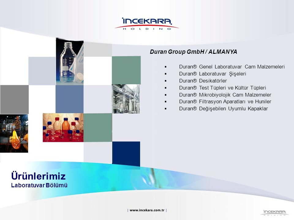 Duran Group GmbH / ALMANYA  Duran® Genel Laboratuvar Cam Malzemeleri  Duran® Laboratuvar Şişeleri  Duran® Desikatörler  Duran® Test Tüpleri ve Kül