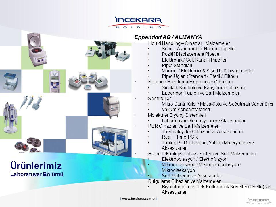 Eppendorf AG / ALMANYA Liquid Handling – Cihazlar - Malzemeler Sabit – Ayarlanabilir Hacimli Pipetler Pozitif Displacement Pipetler Elektronik / Çok K