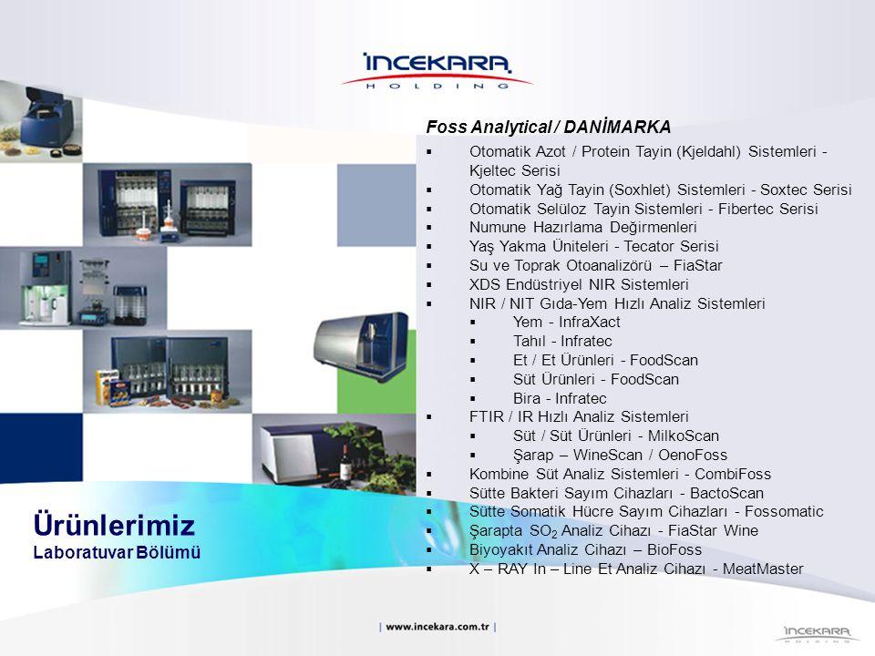 Foss Analytical / DANİMARKA  Otomatik Azot / Protein Tayin (Kjeldahl) Sistemleri - Kjeltec Serisi  Otomatik Yağ Tayin (Soxhlet) Sistemleri - Soxtec