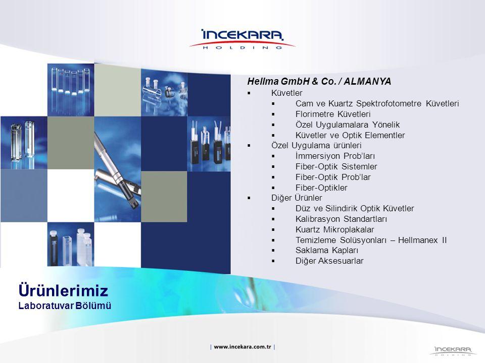 Hellma GmbH & Co. / ALMANYA  Küvetler  Cam ve Kuartz Spektrofotometre Küvetleri  Florimetre Küvetleri  Özel Uygulamalara Yönelik  Küvetler ve Opt