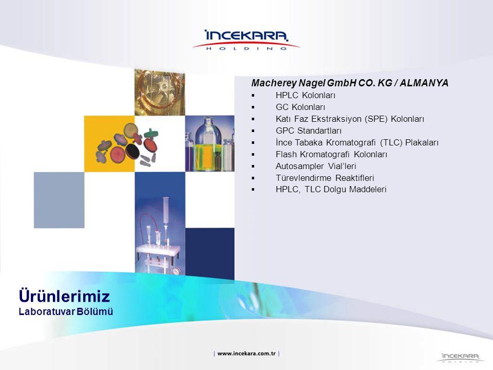 Macherey Nagel GmbH CO. KG / ALMANYA  HPLC Kolonları  GC Kolonları  Katı Faz Ekstraksiyon (SPE) Kolonları  GPC Standartları  İnce Tabaka Kromatog