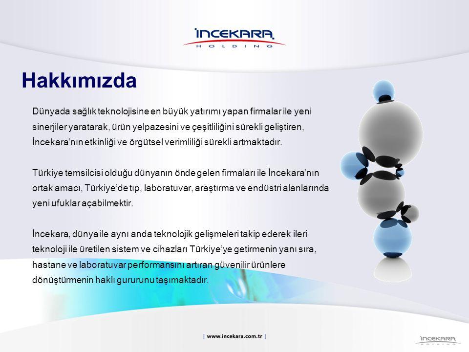 Hakkımızda İncekara; Tıbbi Cihaz ve Sistemler, Laboratuvar Cihazları ve Endüstriyel Ürünler ve Danışmanlık konularında Türkiye'nin öncü kuruluşları arasında yer almaktadır.
