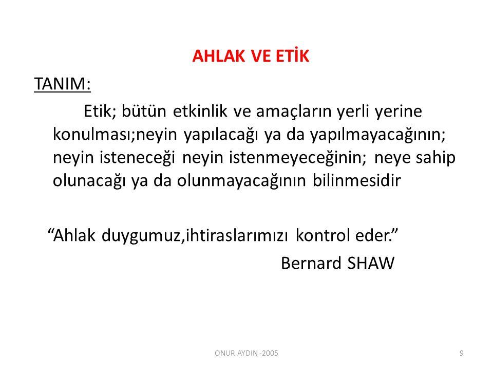 Etik ve Ahlak Türkçe de «etik» sözcüğü «ahlâk» sözcüğüyle eş anlamlı olarak da kullanılır.