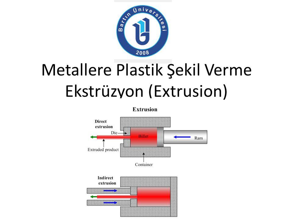 Metallere Plastik Şekil Verme Ekstrüzyon (Extrusion)