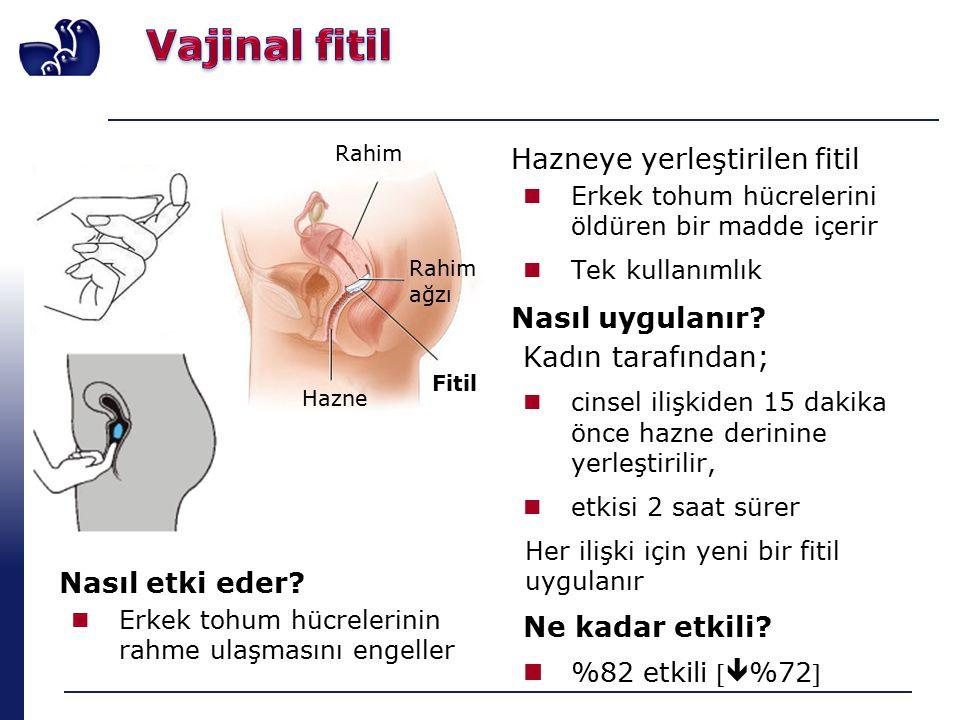 Hazneye yerleştirilen fitil Erkek tohum hücrelerini öldüren bir madde içerir Tek kullanımlık Nasıl uygulanır.