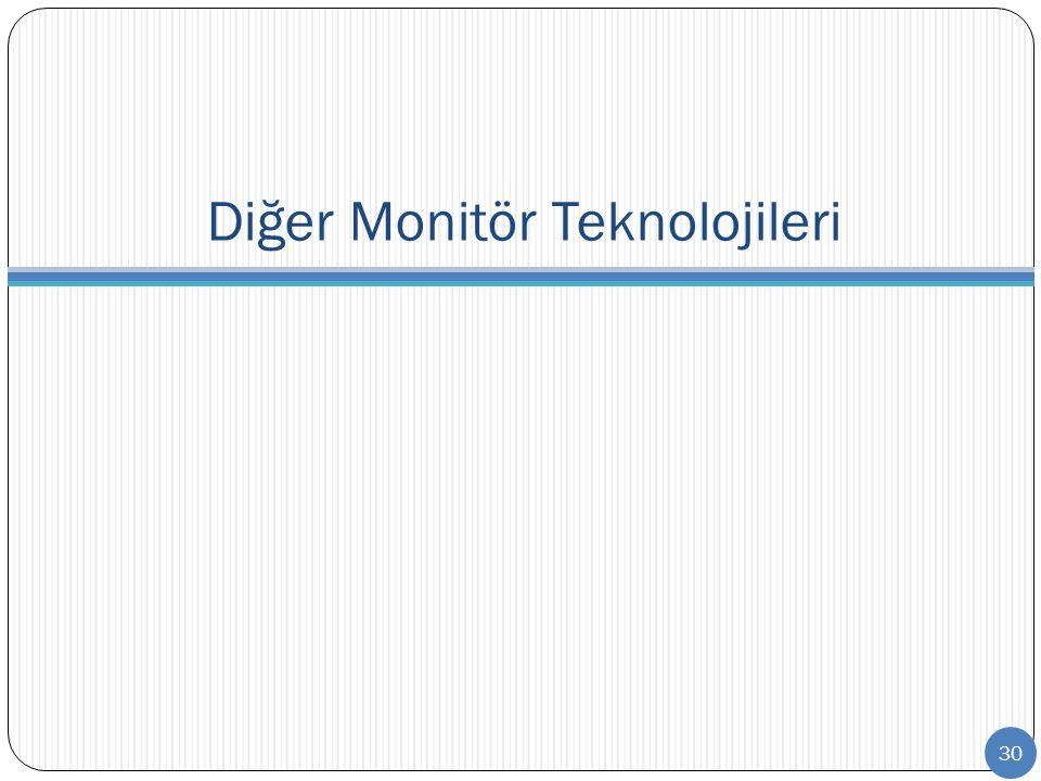 Diğer Monitör Teknolojileri 30