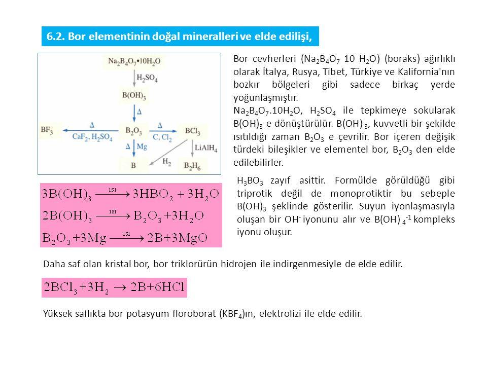 Bor, geçiş elementi olan demir, nikel ve kobalt ile alaşımları oluştururlar.