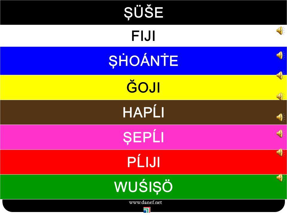 ŞÖXER renkler Renk tonları 119 www.danef.net