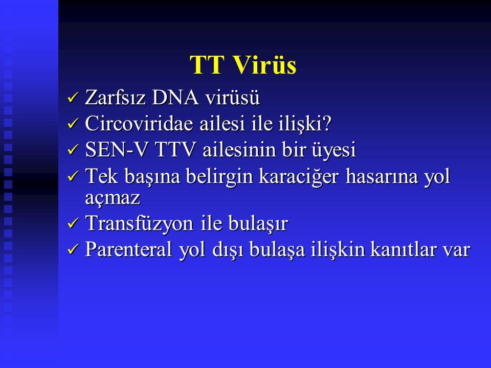 TT Virüs Zarfsız DNA virüsü Zarfsız DNA virüsü Circoviridae ailesi ile ilişki.