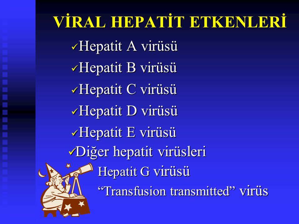 Picornaviridae ailesi, hepatovirus genusunda Picornaviridae ailesi, hepatovirus genusunda Zarfsız, 27-28 nm boyutlarında dayanıklı bir RNA virüsü Zarfsız, 27-28 nm boyutlarında dayanıklı bir RNA virüsü Bir çok genotip (Genotip IA, IB, II, IIIA,IIIB, IV, V, VI, VII) Bir çok genotip (Genotip IA, IB, II, IIIA,IIIB, IV, V, VI, VII) Deneysel infeksiyon oluşturulabilir ve Deneysel infeksiyon oluşturulabilir ve hücre kültürlerinde üretilebilir hücre kültürlerinde üretilebilir HEPATİT A VİRÜSÜ HEPATİT A VİRÜSÜ