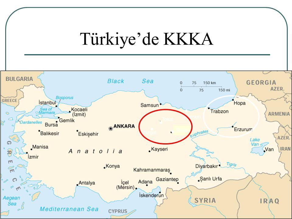 26 Tokat Giresun Sivas Yozgat Türkiye'de KKKA