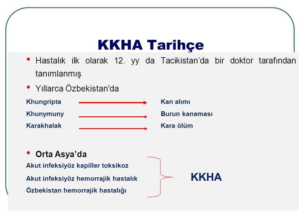 KKHA Tarihçe Hastalık ilk olarak 12.