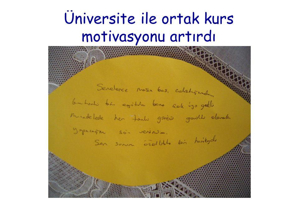 Üniversite ile ortak kurs motivasyonu artırdı