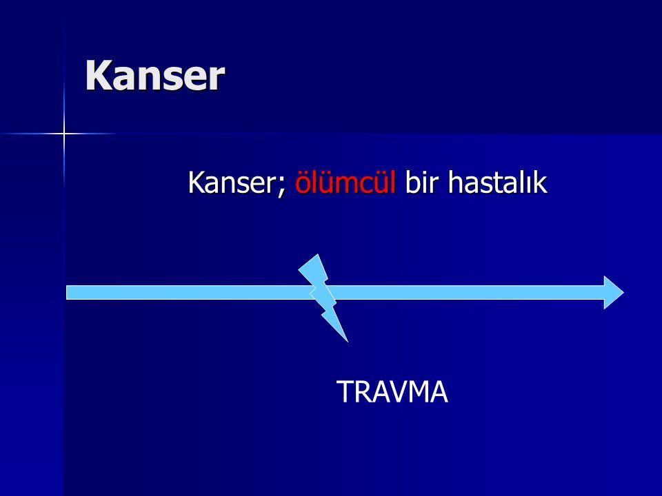 Kanser TRAVMA Kanser; ölümcül bir hastalık
