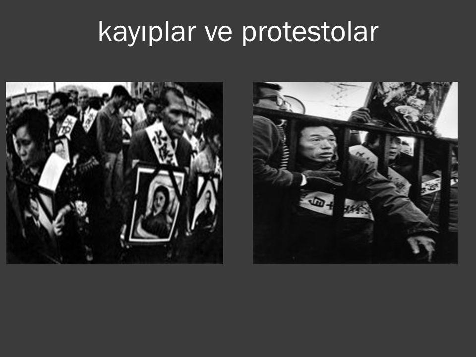 kayıplar ve protestolar