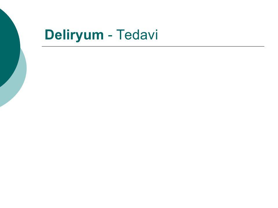 Deliryum - Tedavi