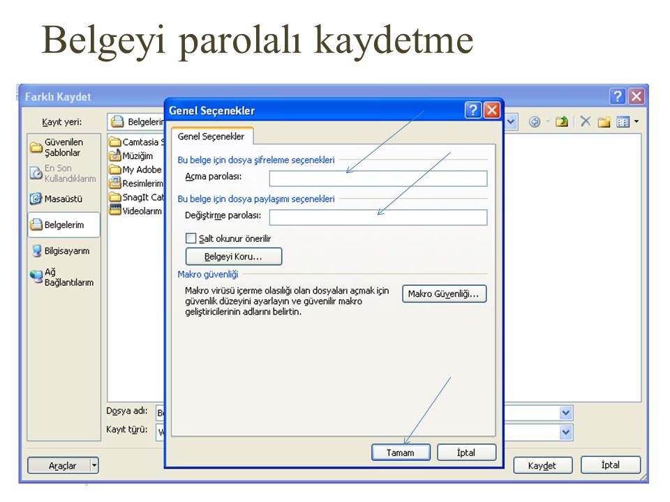 Giriş - Pano Başlat çubuğu üzerinde Office Düğmesi bulunur. Dosya menüsü komutlarını içerir.