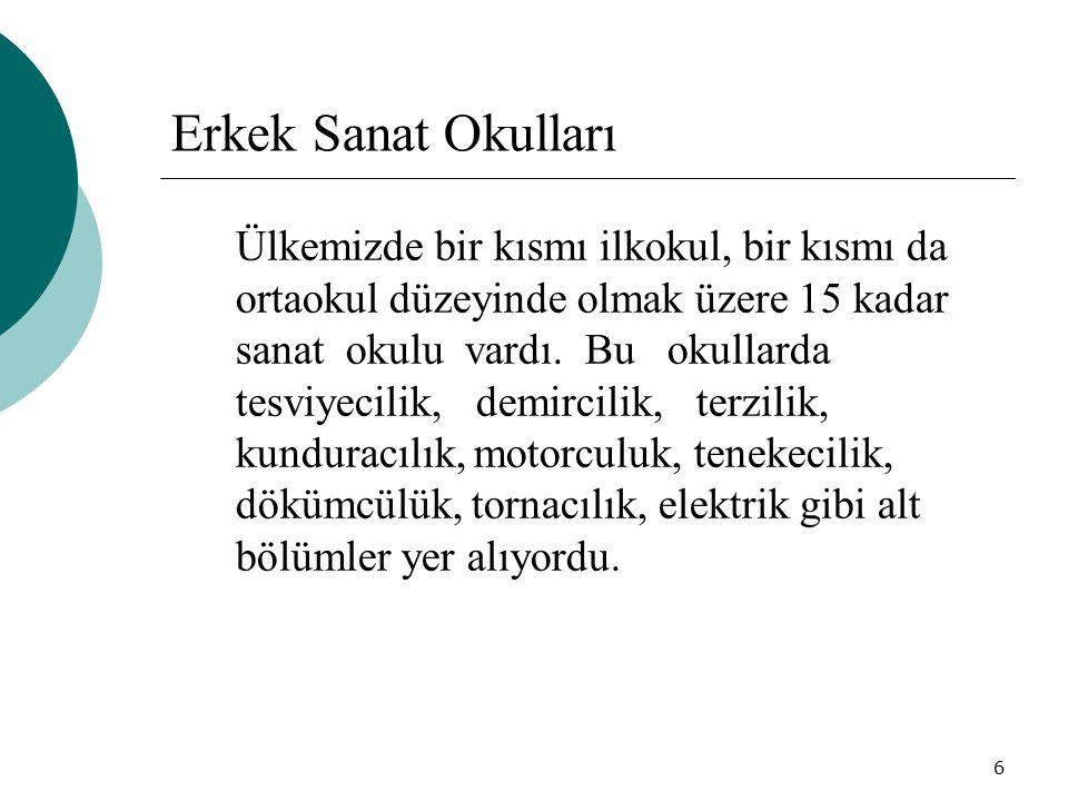 17 Buyse nin kurulmasını önerdiği ve projesini hazırladığı eğitim-öğretim kurumları da şunlardır:  Mustafa Kemâl Paşa İş Dârülfünunu (Meslek okullarına usta ve öğretmenler yetiştirmenin yanı sıra mahir işçi, teknisyen ve uzmanlar yetiştirmek için Ankara da kurulacaktı.)  İsmet Paşa Kız Enstitüsü(Genç kızlar için meslekî, ticarî ve sosyal bilgiler veren bir okul)