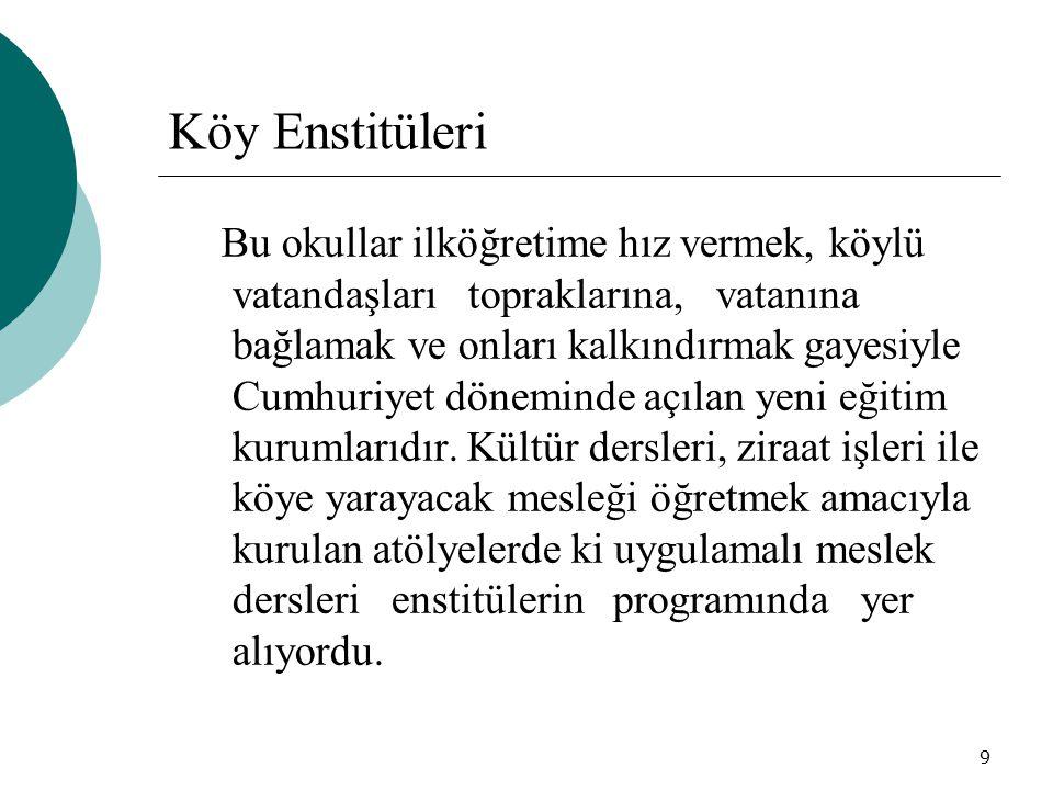 10 İmam-hatip Mektebi 1924 yılında çıkarılan Tevhid-i Tedrisat kanununa bağlı olarak imam ve hatip yetiştirmek amacıyla açılmıştır.
