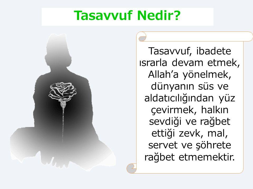 İlk Dönem Temsilciler Tasavvufi düşünceye felsefi boyut kazandıran temsilciler  Ebu Zer Gifari  Ebu Musa Eş'ari  Selman Farisi  Abdullah b. Mesut