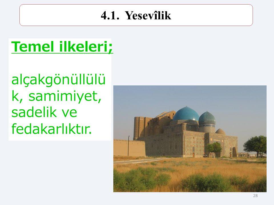 27 Türk tasavvuf geleneğinin öncüsü olan Hoca Ahmet Yesevi, bugünkü Kazakistan'ın Çimkent şehri yakınlarında doğmuştur. 1167 tarihinde vefat etmiştir.