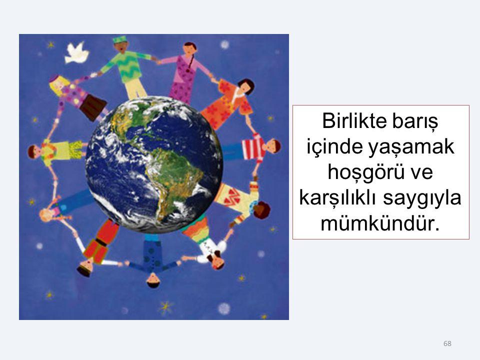 6. Birlikte Yaşama ve Hoşgörü Kültürü İnsanların farklı din ve inançlara sahip olması birlikte, barış içinde yaşamalarına engel değildir.