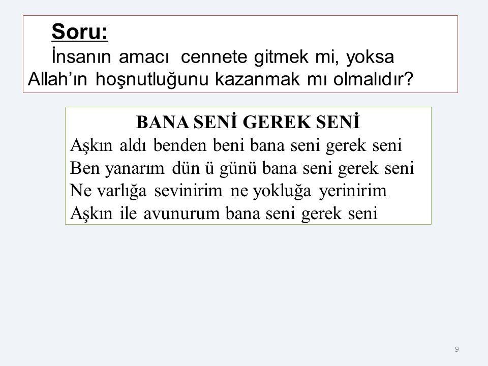 29 Hoca Ahmet Yesevi'nin en belirgin yönü, İslam'ı tasavvufi bir yaklaşımla Türk boylarının anlayabilecekleri basit bir dille ifade etmesidir.