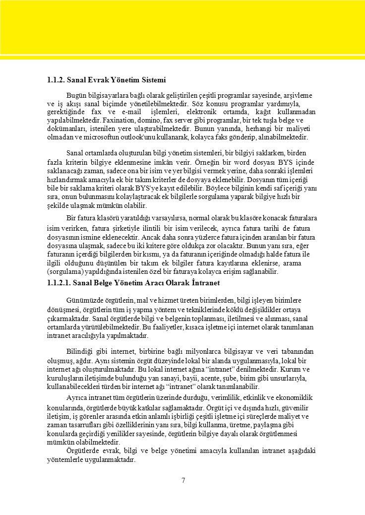  Devlet Arşiv Hizmetleri Hakkında Yönetmelik İnternette Arşivleme Hareketleri ile İlgili Siteler 38 ÖNERİLEN KAYNAKLAR