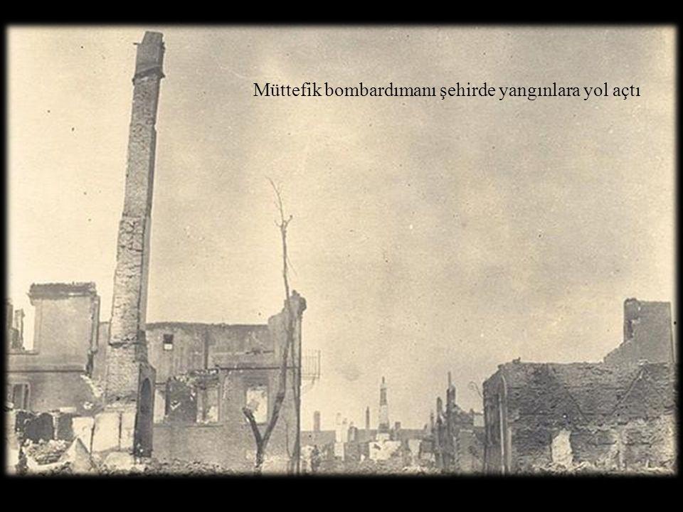 Müttefik bombardımanı şehirde yangınlara yol açtı