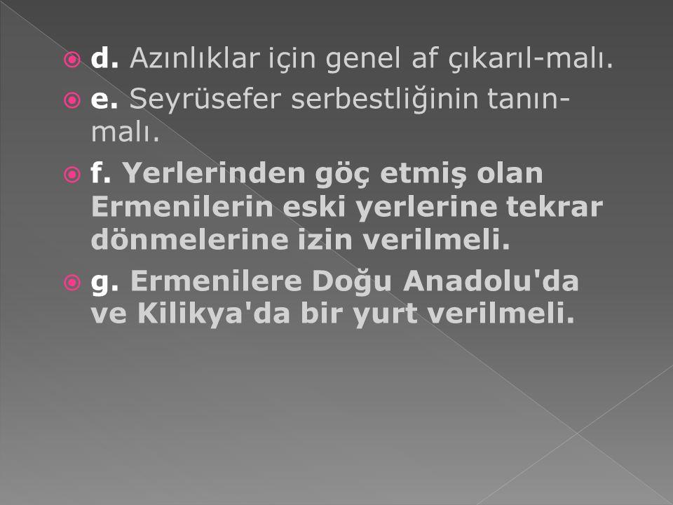  Ermeni sorunu Lozan'da