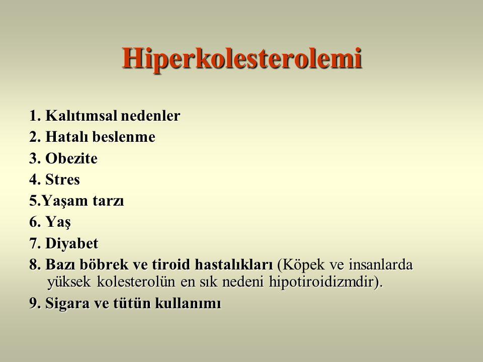Sağlık açısından plazma kolesterol düzeyinin normal sınırlar içinde tutulması gerekir.