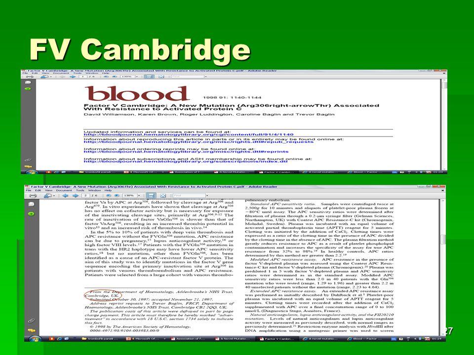 Tıbbi Genetik AD.27 FV Cambridge