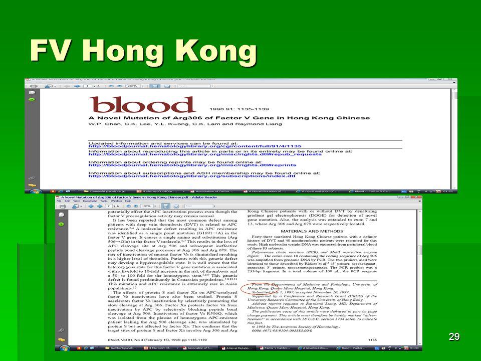 Tıbbi Genetik AD.29 FV Hong Kong