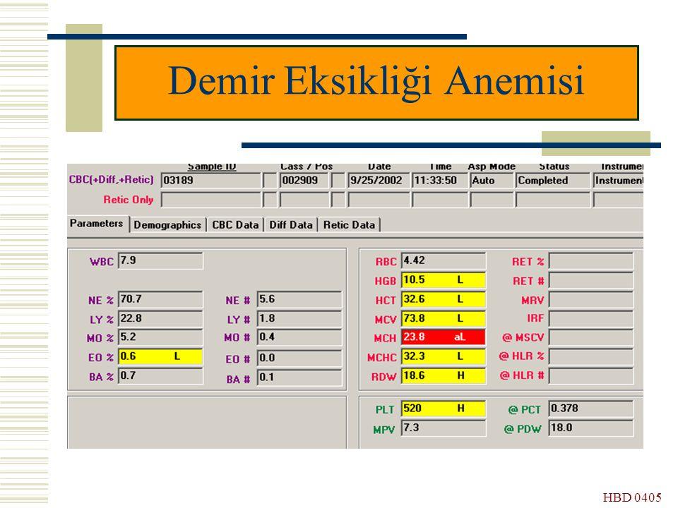 HBD 0405 Demir Eksikliği Anemisi