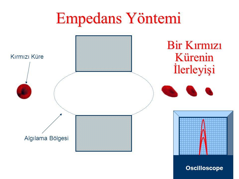HBD 0405 Trombositlerin Kırmızı Kürelerin Arasından Seçilmesi 20 fl 2 fl Ana Hat Değişik Büyüklükte Kırmızı Küreler Trombositler