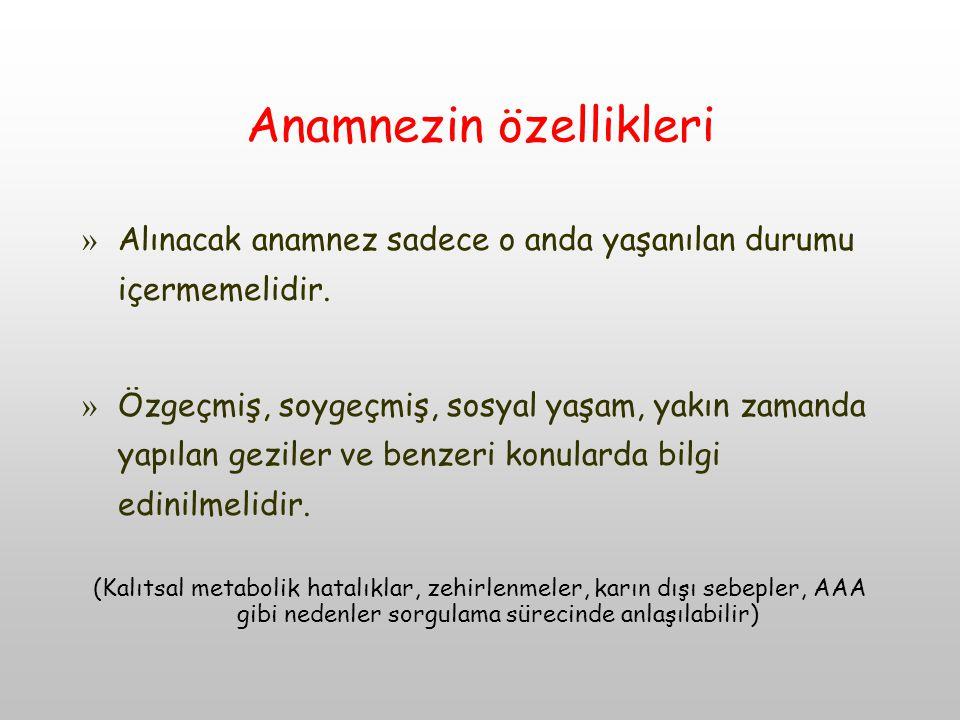 Anamnezin özellikleri » Alınacak anamnez sadece o anda yaşanılan durumu içermemelidir.