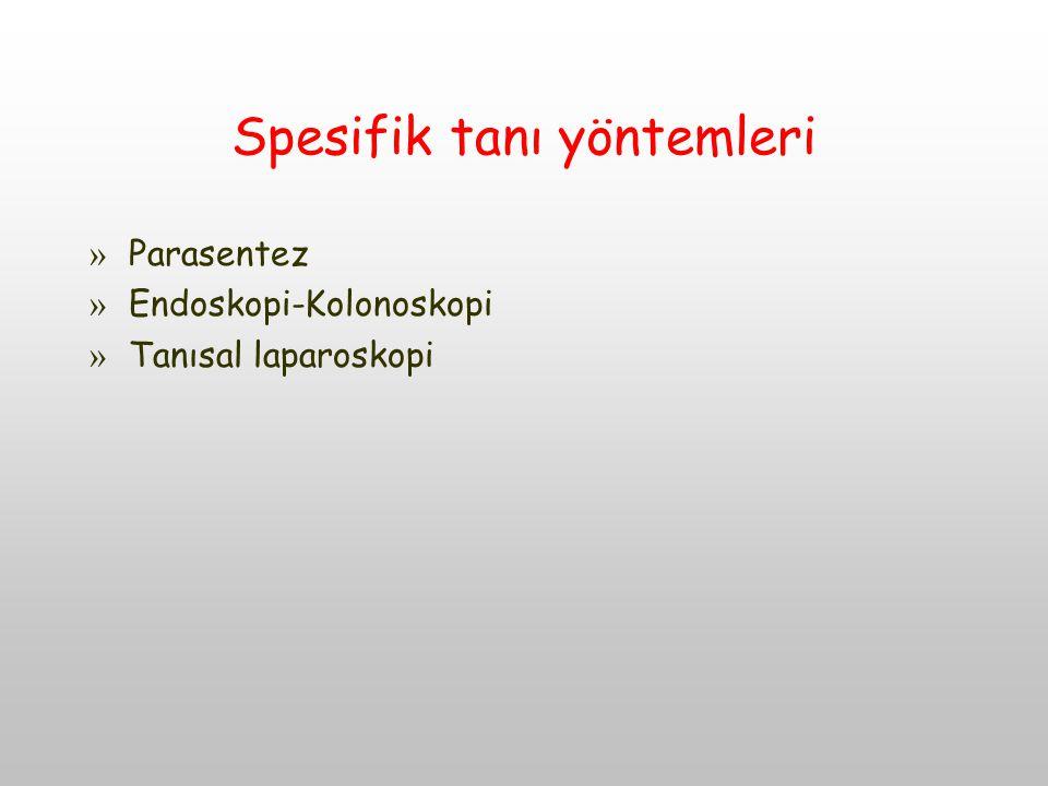 Spesifik tanı yöntemleri » Parasentez » Endoskopi-Kolonoskopi » Tanısal laparoskopi