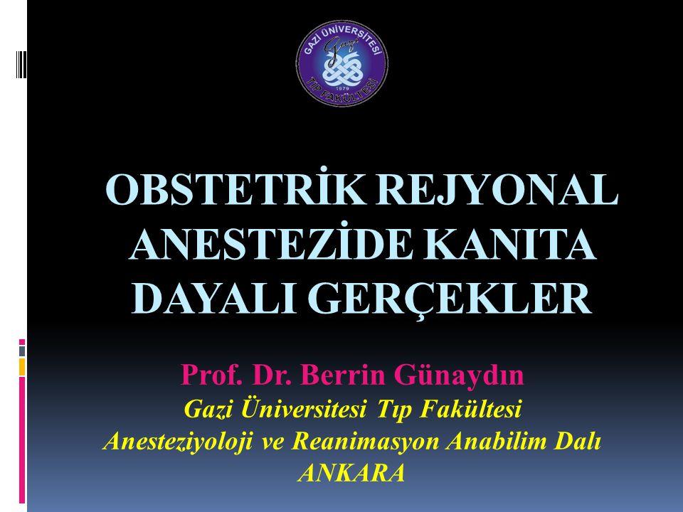Obstetrik Anestezi Uygulama Kılavuzu 2007 IV.