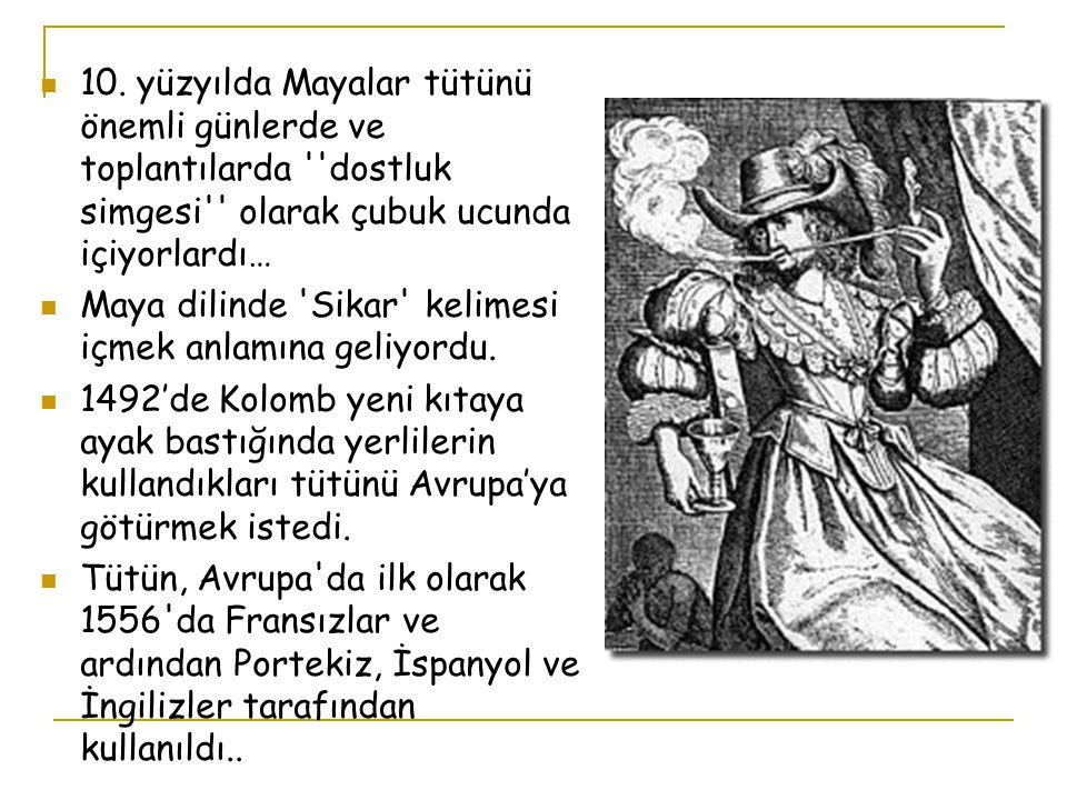 ANADOLU İNSANI TÜTÜNLE 400 YIL ÖNCE TANIŞTI….