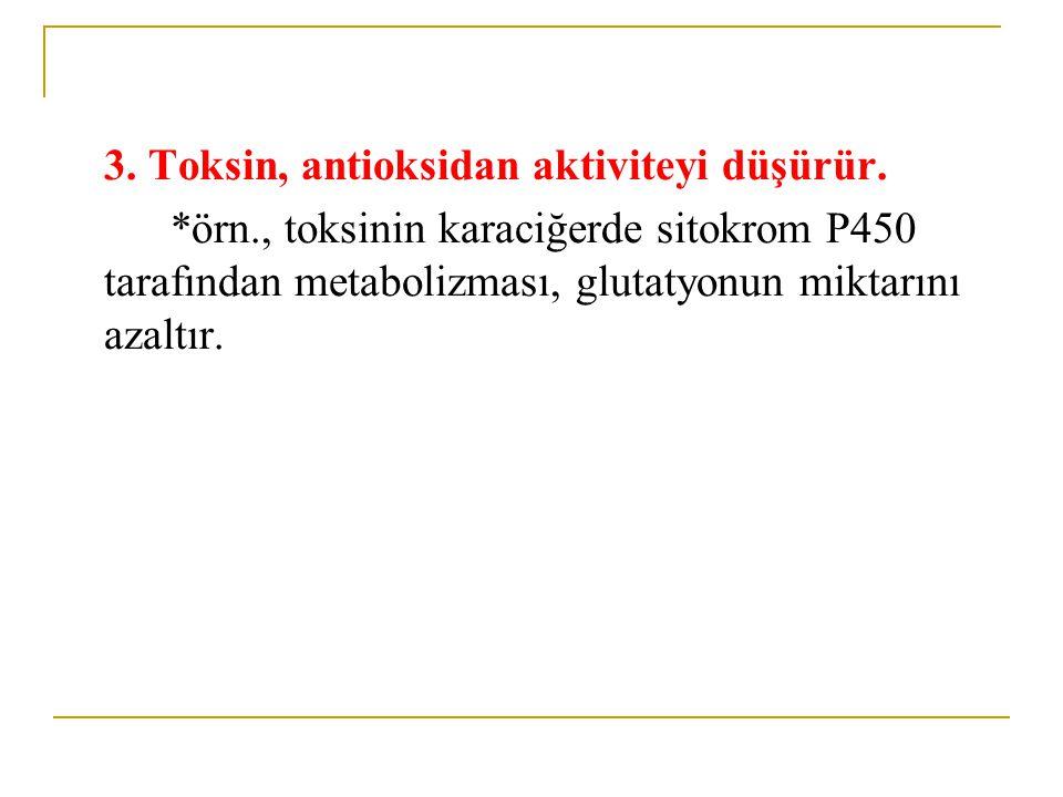 3.Toksin, antioksidan aktiviteyi düşürür.