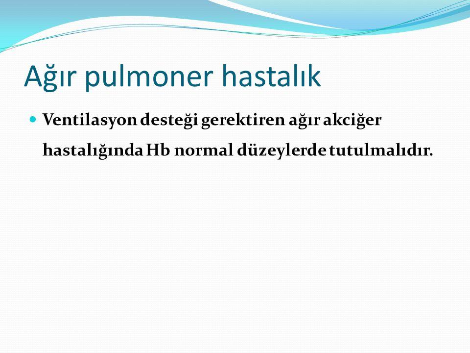 Anemi Demir eksikliği anemisi genelde iyi kompanse edilir ve oral demir tedavisine iyi yanıt alınır.