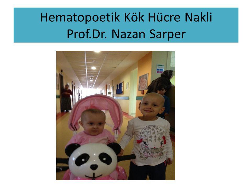 Hematopoetik kök hücre kaynakları 1.Kemik iliği 2.