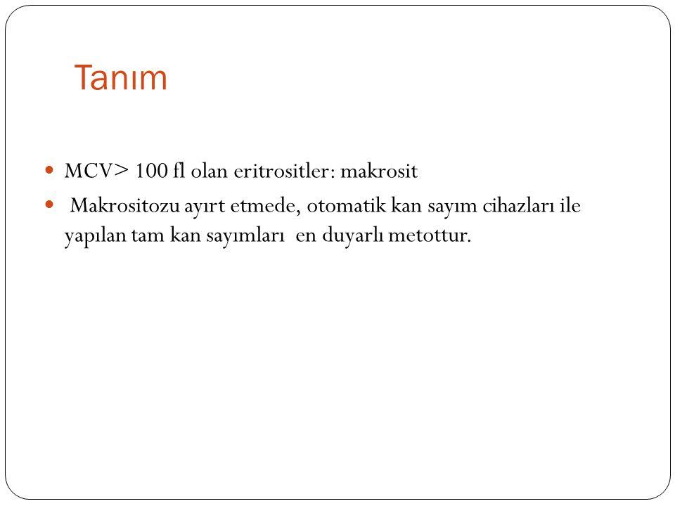 Yalancı makrositoz So ğ uk aglütinin varlı ğ ı Ciddi hiperglisemi Ciddi lökositoz MCV>100 ?