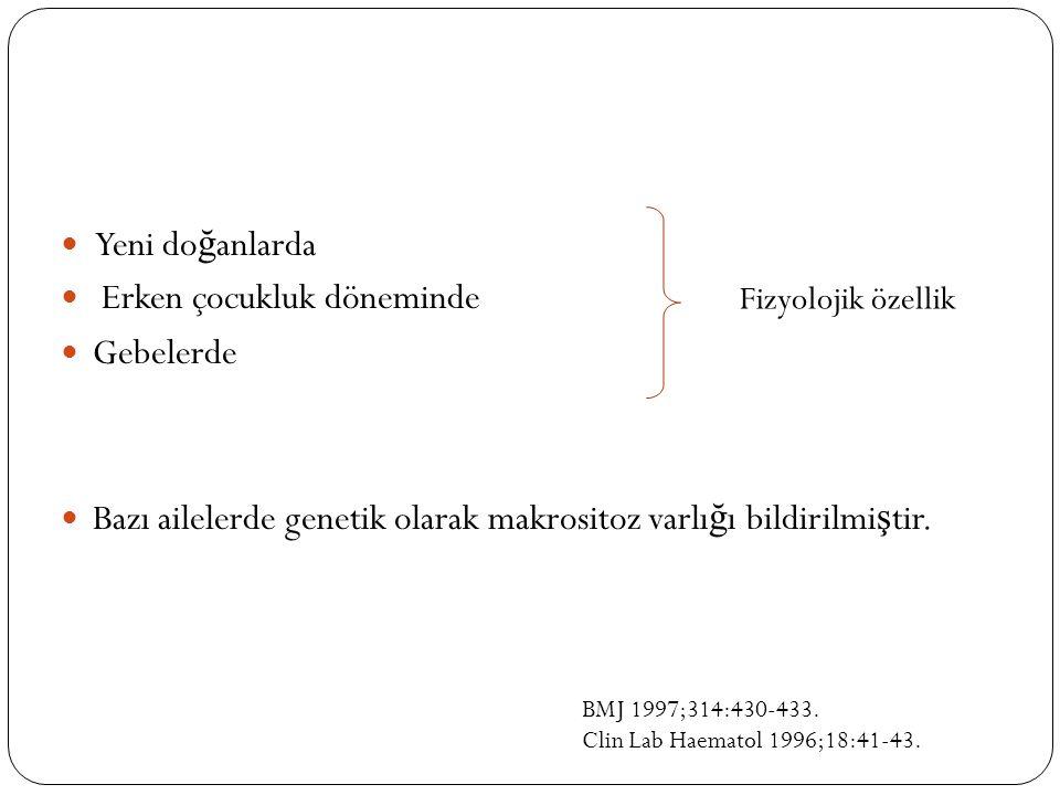MEGALOBLASTİK ANEMİLER Tanım: Kemik ili ğ inde megaloblastik de ğ i ş im ile birlikte olan anemilerdir.