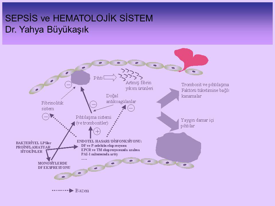 SEPSİS ve HEMATOLOJİK SİSTEM Dr. Yahya Büyükaşık