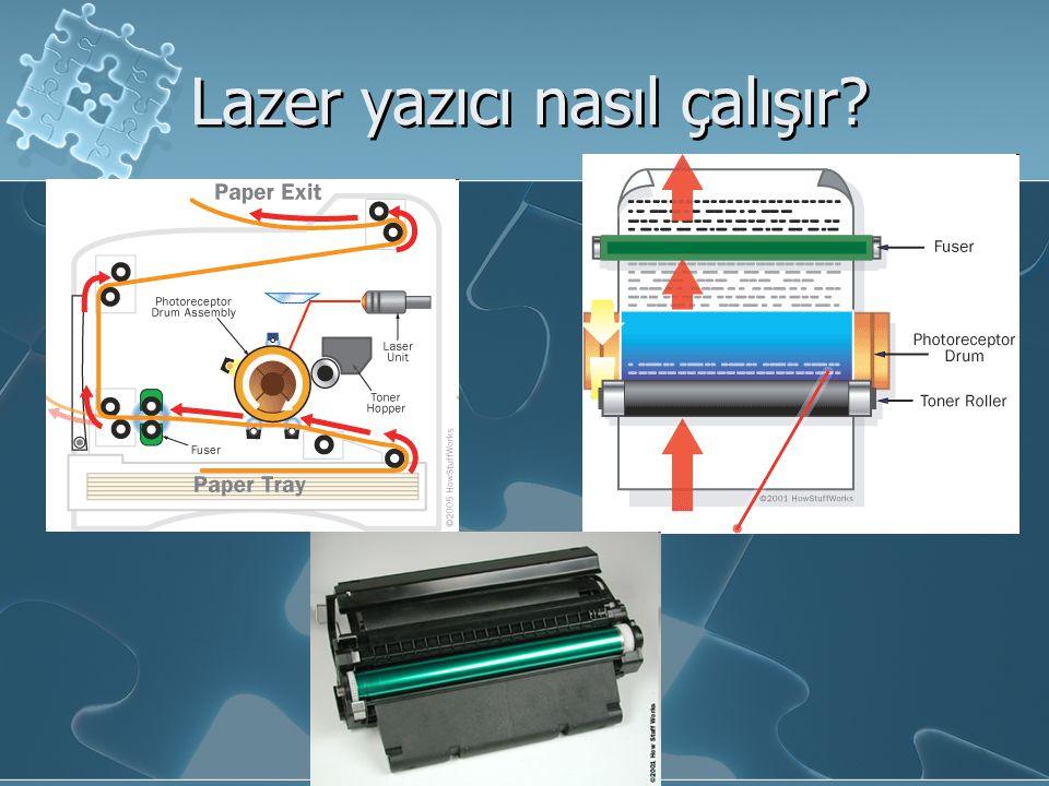 Lazer yazıcı nasıl çalışır?