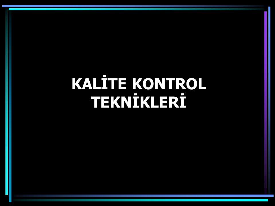 KALİTE KONTROL TEKNİKLERİ