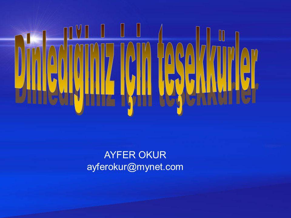 AYFER OKUR ayferokur@mynet.com