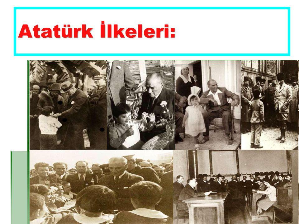 Eğitim Alanında Yapılan Değişiklik:  Atatürk eğitime, öğretime çok önem verdi.
